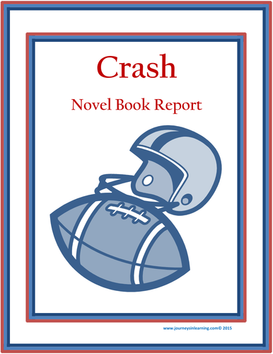 Crash Novel Book Report By Pimentm Teaching Resources Tes