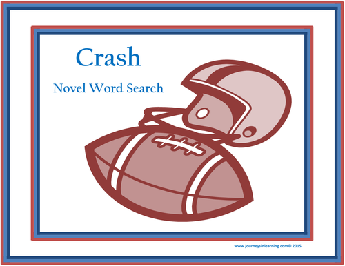 Crash Novel Word Search By Pimentm Teaching Resources Tes