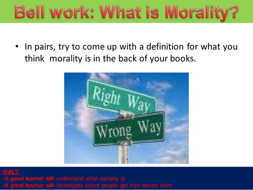 Religion and Morality 1/9 - What is Morality