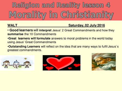 Religion and Morality 4/9 - Morality in Christianity