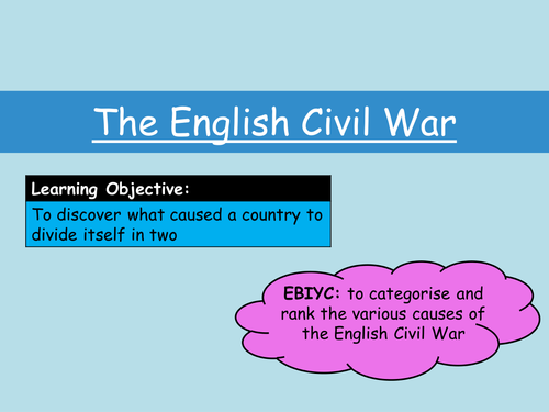 causes of the english civil war The causes of the english civil war have provoked fierce controversy amongst historians ever since the seventeenth century the period is still one which matters to people, one over which they take sides.