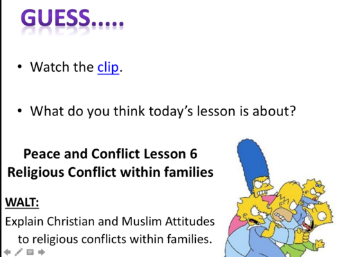 Edexcel Peace and Conflict - Lesson 6: Family Conflict