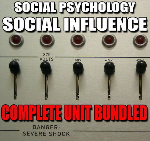 Social Psychology Social Influence Unit PPTs Worksheets – Ap Psychology Worksheets