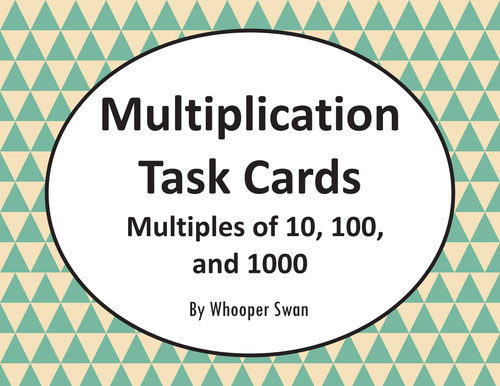 English In Italian: Multiplying By Multiples Of 10, 100, And 1000 Task Cards