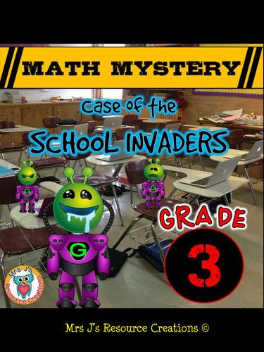 Back to School Math Mystery Activity (GRADE 3 US)