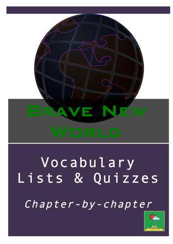 Brave New World Vocabulary Quizzes