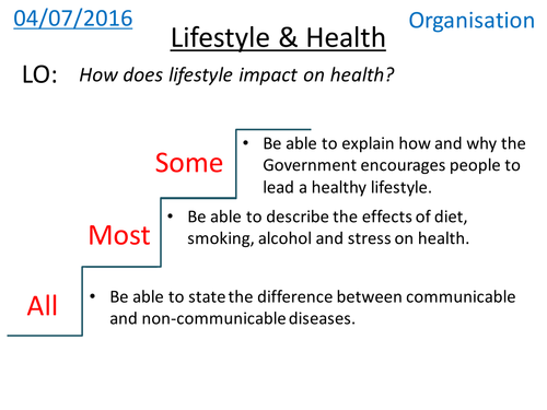 Health & Lifestyle  (non-communicable diseases) - NEW GCSE