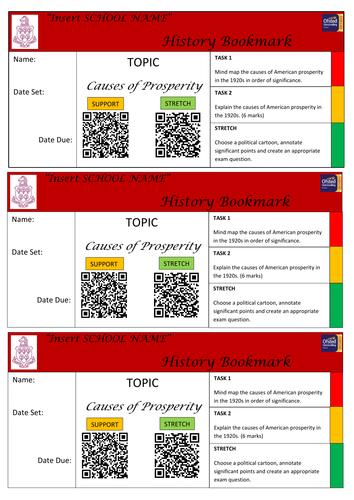 Causes of Prosperity homework QR task