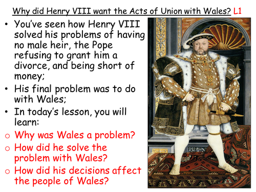 Henry VIII and the Acts of Union with Wales