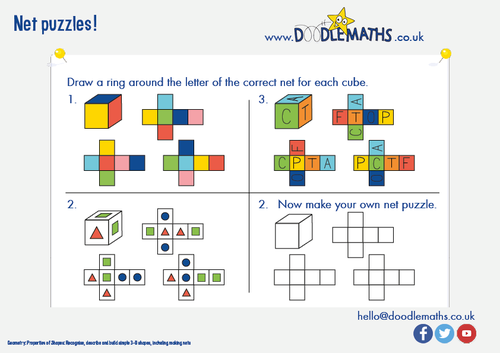 Nets of cuboids and surface area lesson and worksheet by – Surface Area Nets Worksheet