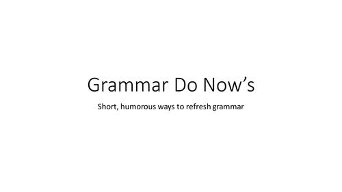 Grammar Do Nows