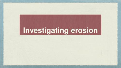 Water Erosion Investigation ppt