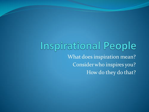 unit 1 lesson 1 Inspirational People