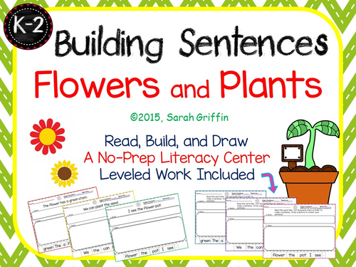 Building Sentences Writing Center - Plants and Flowers