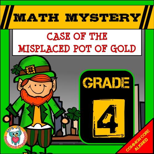 St Patrick's Day Math Mystery (GRADE 4)