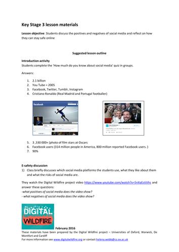 Digital Wildfire- E-safety & social media resource pack- KS3