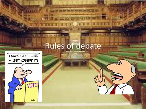 Rules of Debate
