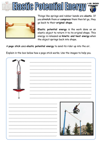 Elastic Potential Energy by DanBrown360 - Teaching Resources - Tes