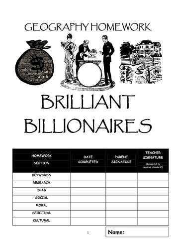 Homework booklet: BRILLIANT BILLIONAIRES