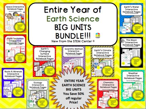 Earth Science: BIG UNITS BUNDLE!