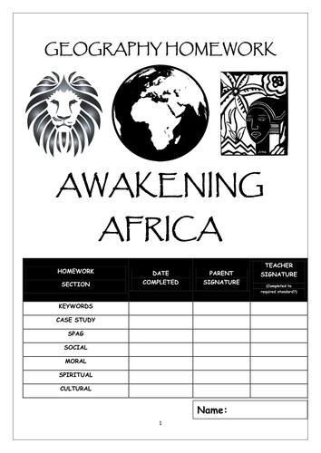 Homework booklet: AWAKENING AFRICA