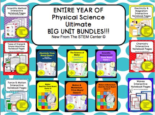 Physical Science: BIG UNITS BUNDLE!