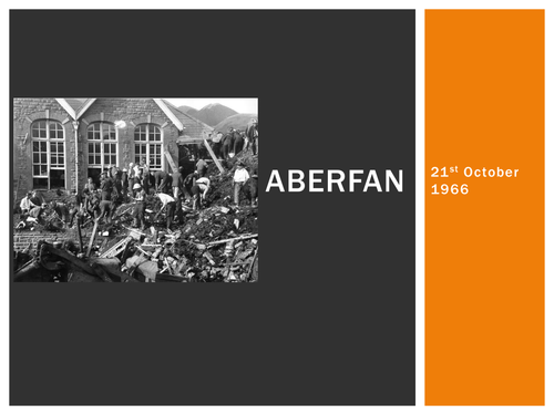 OCR Geography A2 - Lesson on the Aberfan Mass Movement Event - including case study sheet