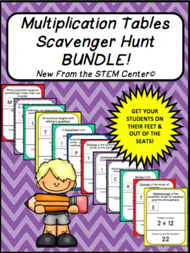 Multiplication Tables Scavenger Hunt Bundle