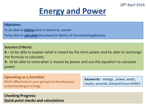 Energy and Power - Activate 2