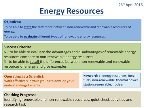 Energy Resources - Activate 2