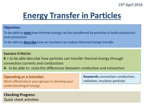 Energy Transfers in Particles - Activate 2