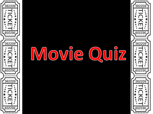 End of Year Movie Quiz