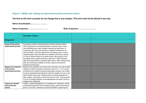 NPQSL - Combined Task (Full Project including additional resources)