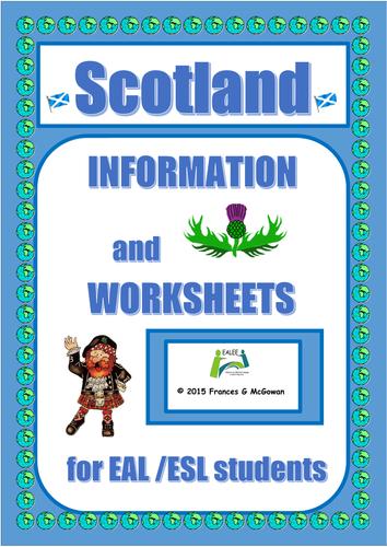 Scotland Information and Worksheets for EAL/ESL/ELL/ELD