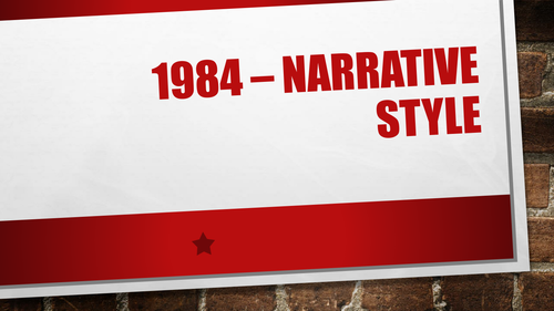 1984 introduction: Orwell's narrative style