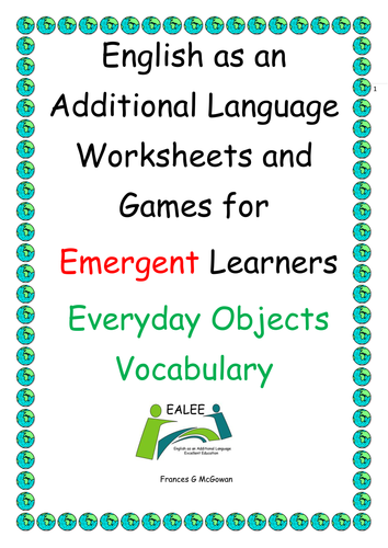 Ealesleflelleld Worksheets And Games For Emergent Learners
