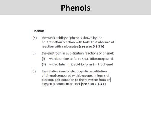 The chemistry of PHENOL - OCR A Level Chemistry (Aromatic Chemistry)