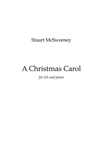 A Christmas Carol (Sheet music for SA and Piano)