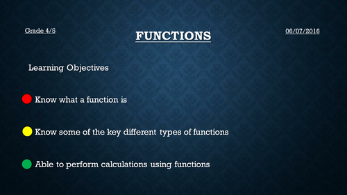 Functions (New GCSE 2015)