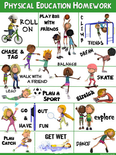 PE Poster: Physical Education Homework by ejpc2222 ...