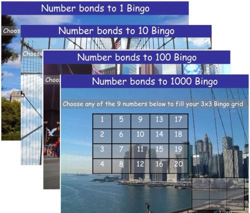 Number bonds Bingos.