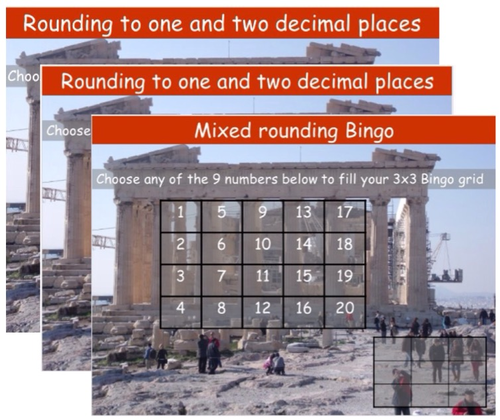 Rounding to decimal places and significant figures Bingos
