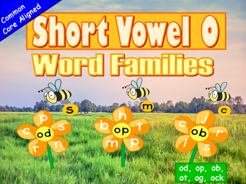 Short Vowel O Word Families