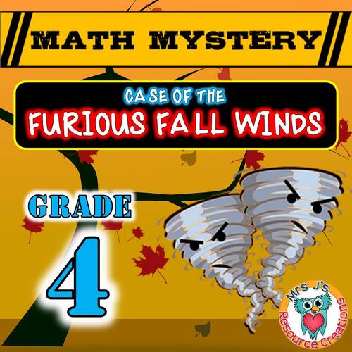 Fall Math Mystery Activity (GRADE 4)