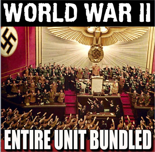 world war ii unit powerpoints worksheets lesson plans test ww2
