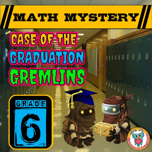End of Year Math Mystery (GRADE 6)