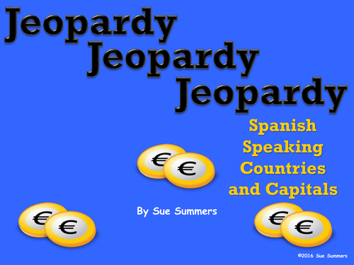 Spanish Speaking Countries And Capitals Jeopardy Game By - Countries and capitals game
