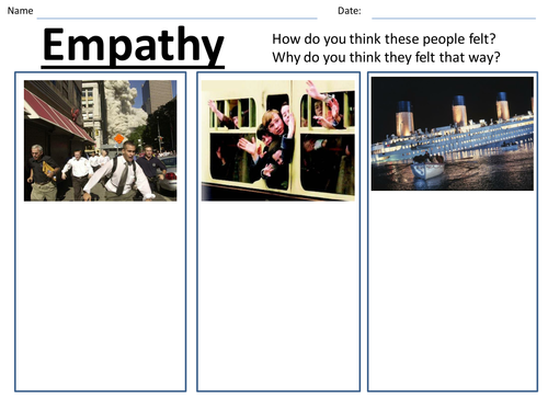 Empathy Worksheet By Jltowler Teaching Resources
