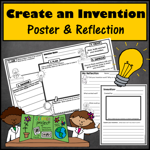makerspace create an invention poster project by windupteacher