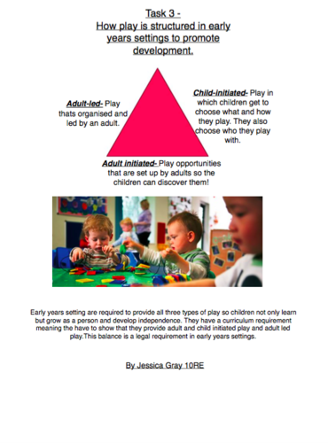 how play is structured in early years settings to promote development